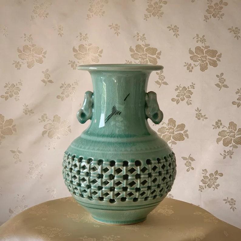 Celadon Vase_Etsy