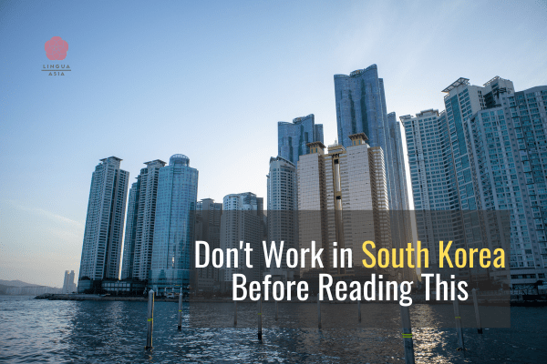 Don't Work in South Korea Before Reading This