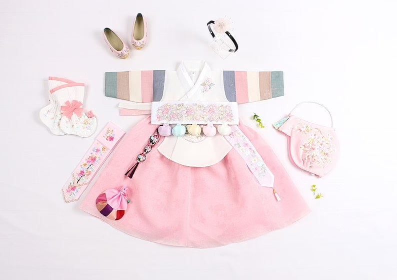Hanbok for Baby Girl_Etsy