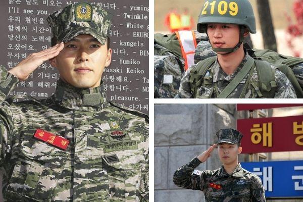 K-pop stars serving military