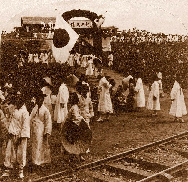 Opening of railroad by Japanese