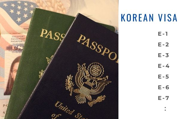 work visa types in korea
