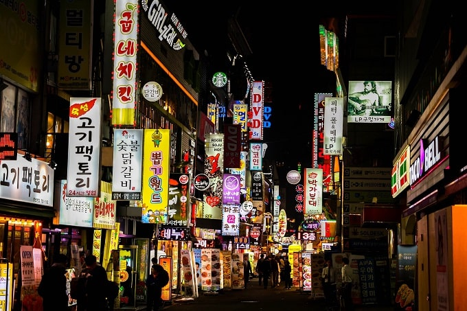 South Korean nightlife seoul