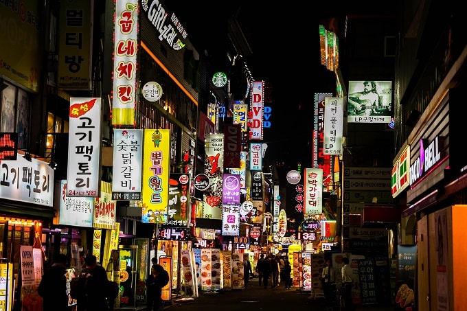 South Korean nightlife seoul
